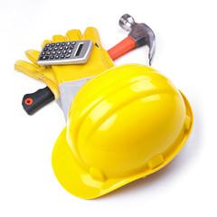 Building site - Hardhat Hammer Gloves Calculator