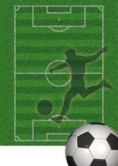 Fussballplakat