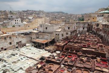 Ledergerberei in der Altstadt von Fes - Marokko