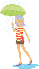 A Girl With Umbrella