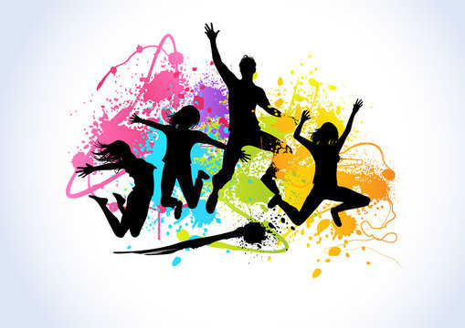 Spray Paint Happy People