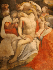 Rome - painting Deposition from the Cross