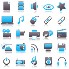 multimedia Blue Icons