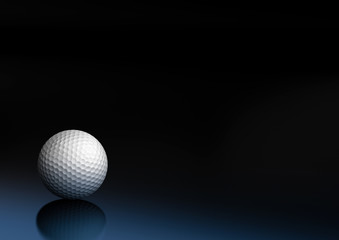 balle de gold sur un fond noir et bleu