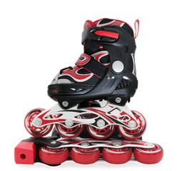 Red-black roller-scates for children