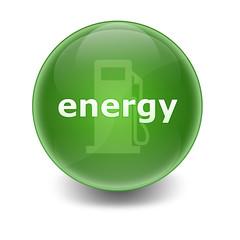 """Esfera brillante con texto """"ENERGY"""""""