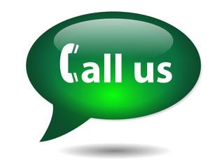 CALL US speech bubble icon (contact web button customer service)