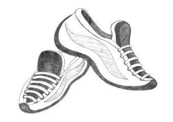 sport shoes drawing