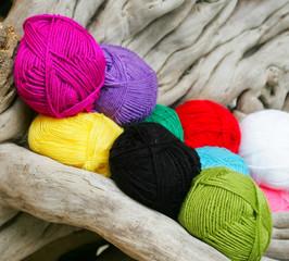 balls of a yarn knitting