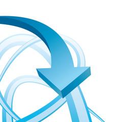 blue arrow business background