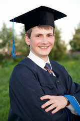 Smiley graduate student