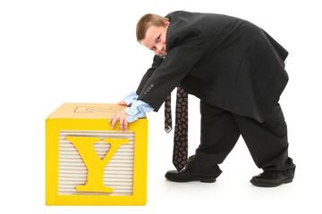 Y in Alphabet Blocks