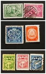 La lettonie en timbres