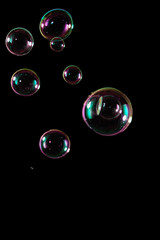 Bubbles isolated on black
