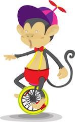 A Monkey Doing Cycling