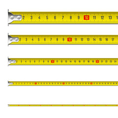 Exact tape measure. Vector.