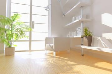 modern study,3D rendering