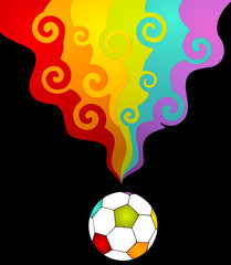 colored football for a design