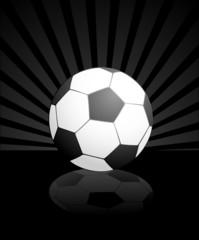 Football on a black