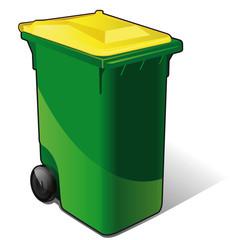 poubelle de tri sélectif - métal, cannettes, aluminium