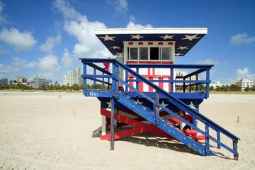 Miami South Beach Lifeguard Hut