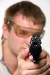 Aiming gunman
