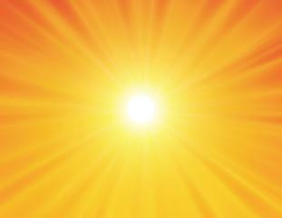 sun on yellow background