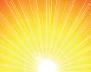 sun on yellow background