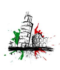 Italie Tour de Pise Colisée