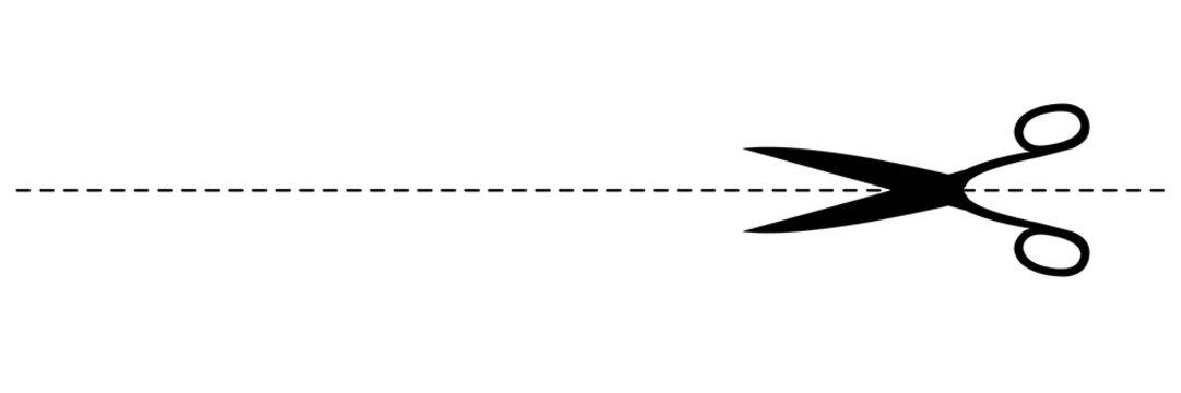 Ligne pointillée à découper