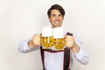 oktoberfest mann bier