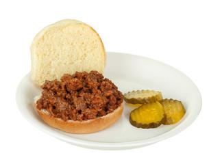Sloppy Joe Sandwich Isolated