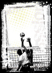 dirty beach volleyball poster 2