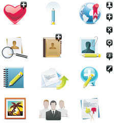 Vector social media icons set. Part 1