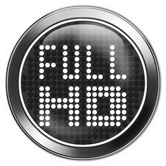 retro button full HD icon