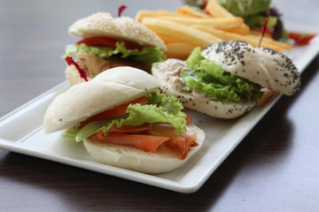Fancy sandwich bun roll