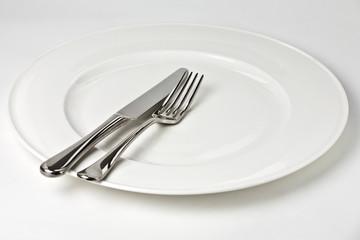 Plate, Knife, Fork