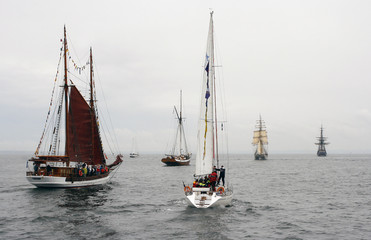 Old ships in the baltic sea