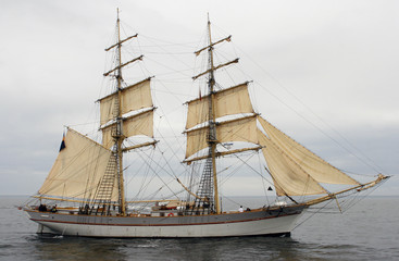 Old ship in the baltic sea