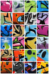 Stores photo Graffiti collage Graffiti