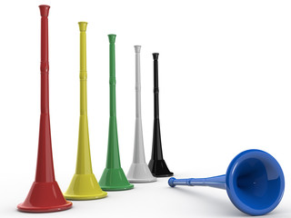 Five colored Vuvuzela