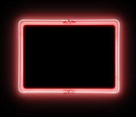 Neon Red Warning Sign Symbol