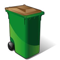 poubelle de tri sélectif - marron