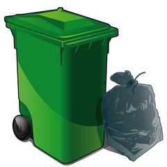 les déchets non triés / poubelle classique