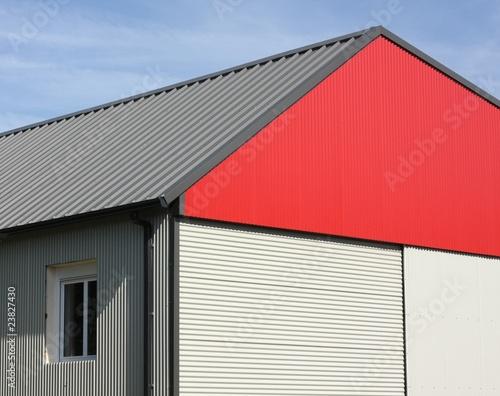 batiment industriel en t le photo libre de droits sur la banque d 39 images image. Black Bedroom Furniture Sets. Home Design Ideas