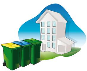 le tri des déchets / tri sélectif des immeubles
