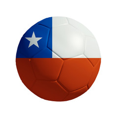 3D Ball withi Chile  Flag