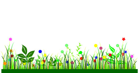 flowers for background vector illustration