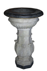 Ancient marble Baptismal font.