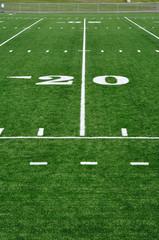 20 Yard Line on American Football Field